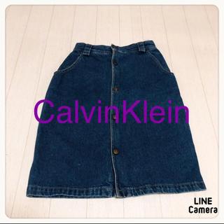 カルバンクライン(Calvin Klein)の☘T2343☘Calvin Klein デニムスカート 8(ひざ丈スカート)