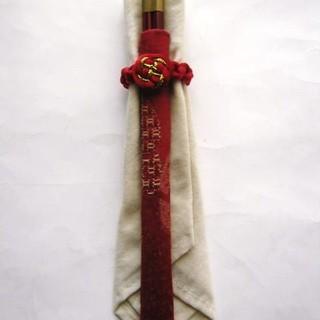 新品中国製箸・箸カバー&ナプキンセット(カトラリー/箸)