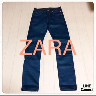 ZARA - ☘T2389☘ZARA デニム風 ややストレッチ パンツ 36