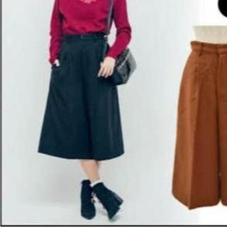 エヴリス(EVRIS)のEVRIS ガウチョパンツ ブラック(カジュアルパンツ)