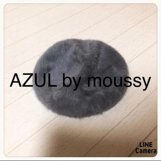 アズールバイマウジー(AZUL by moussy)の☘K3☘AZUL by moussy ファー ベレー帽 F(ハンチング/ベレー帽)