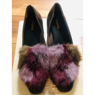 ランダ(RANDA)のRANDA MIXファー付きローファー(ローファー/革靴)
