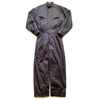 イッセイミヤケ(ISSEY MIYAKE)の希少80sイッセイミヤケメン ジャンプスーツ つなぎ オールインワン グレー黒(サロペット/オーバーオール)
