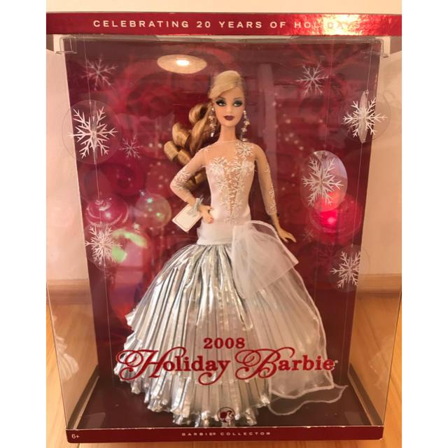 Barbie(バービー)のバービー holiday barbie 2008 未開封 キッズ/ベビー/マタニティのおもちゃ(ぬいぐるみ/人形)の商品写真