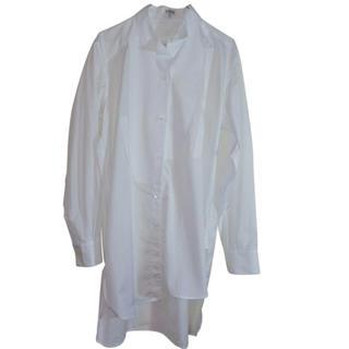 ロエベ(LOEWE)の美品 Loewe ロエベ アシンメトリー シャツ Lサイズ ホワイト (シャツ)