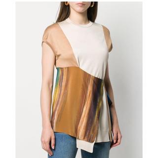 ロエベ(LOEWE)の新品 Loewe ロエベ シルク トップス M マルチカラー タグ付き(Tシャツ(半袖/袖なし))