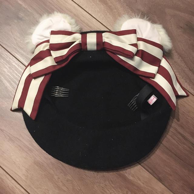 Angelic Pretty(アンジェリックプリティー)のくまみみベレー帽 レディースの帽子(ハンチング/ベレー帽)の商品写真