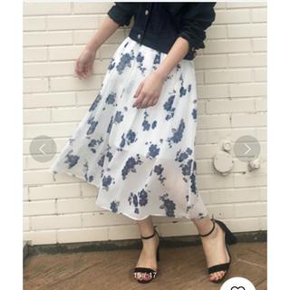 トランテアンソンドゥモード(31 Sons de mode)のトランテアンソンドゥモード スカート 花柄 フラワー ホワイト 白 マキシ(ロングスカート)