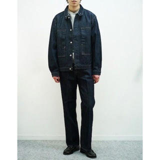 COMOLI - auralee 20ss hard twist denim setup