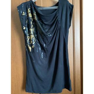 アシメトリーTシャツブラック(Tシャツ(半袖/袖なし))