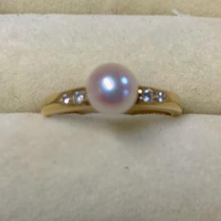 ミキモト(MIKIMOTO)のミキモト リング パール ダイヤモンド K18 指輪 10号(リング(指輪))