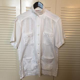 キャリー(CALEE)のCALLE キャリー キューバシャツ ホワイト 白 L(シャツ)