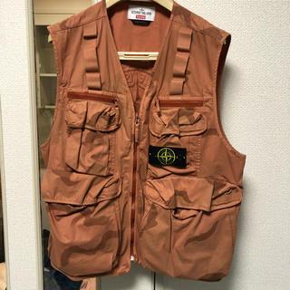 Supreme - LサイズSupreme stone island camo cargo vest