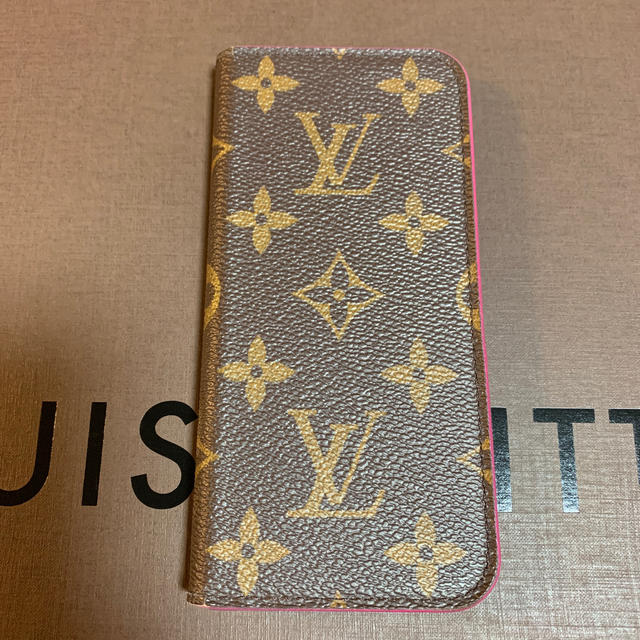 LOUIS VUITTON - 【正規品】ヴィトン  iphone 6,7,8 ケース ピンク イニシャル入りの通販 by  shop|ルイヴィトンならラクマ