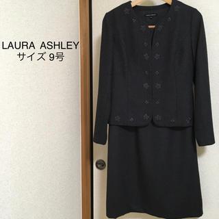 ローラアシュレイ(LAURA ASHLEY)のLAURAASHLEY* ワンピーススーツ ノーカラー 刺繍 卒業式 超美品!(スーツ)