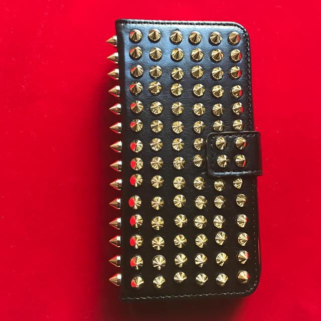 iphone ケース ロフト - 【新品未使用】iphone7&8ケース手帳型スタッズ ルブタン風 黒✖️ゴールドの通販