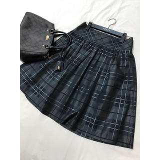 BURBERRY BLACK LABEL - 美品 バーバリー ブラックレーベル フレア スカート チェック