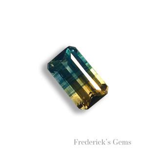 落ち着いたブルーにイエローの煌めき0.2ct 希少石 天然 バイカラーサファイア(リング(指輪))