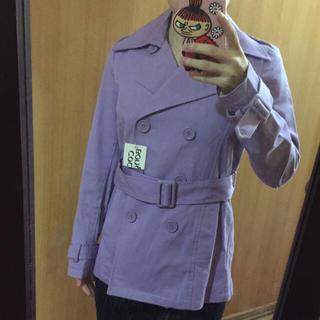 ココボンゴ(COCOBONGO)の新品タグ付き 薄紫コート ココボンゴ(トレンチコート)