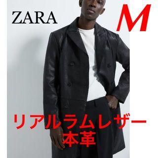 ZARA - 新品 完売品 ZARA M COLLECTION 本革 ラム レザー コート