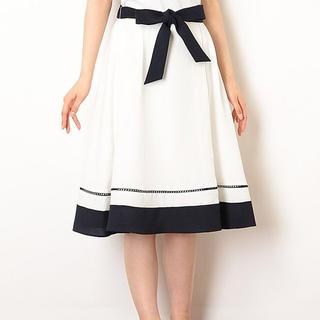 デビュードフィオレ(Debut de Fiore)のデビュードフィオレ バイカラーフレアスカート 36 美品(ひざ丈スカート)