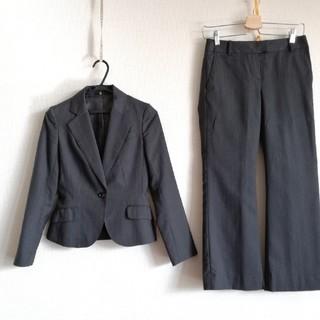 スーツカンパニー(THE SUIT COMPANY)の◎スーツセレクト グレーストライプパンツ 5号(スーツ)
