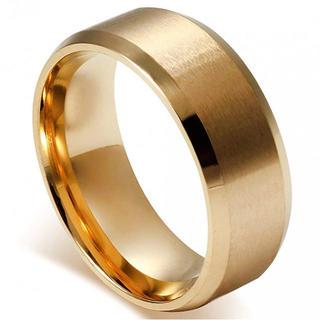 メンズ指輪 ステンレスリング シンプル ファション 結婚指輪 愛の証 幸せの鍵(リング(指輪))