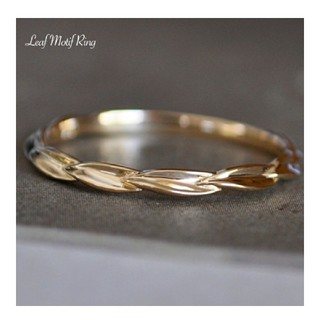 エテ(ete)のCoffret a Bijoux K18 リーフ ピンキーリング 5号(リング(指輪))