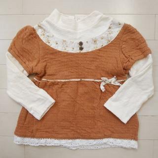 ビケット(Biquette)のサイズ100 ビケット カットソー トップス チュニック 長袖(Tシャツ/カットソー)