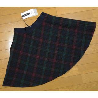 マックスマーラ(Max Mara)のマックスマーラ チェック柄スカート ブラック×ネイビー(ミニスカート)