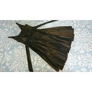 USED☆アプライマリー aprimary  焦げ茶 ドレス (ミニドレス)