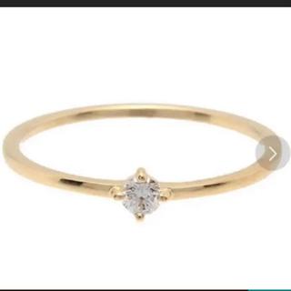 エテ(ete)のete K18金イエローゴールド ダイヤモンドリング 「ブライト」11号 美品(リング(指輪))