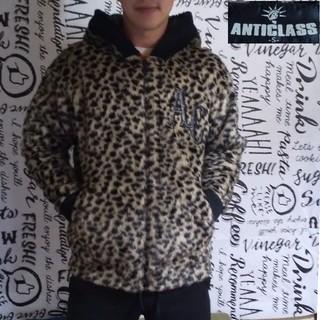 アンチクラス(Anti Class)のANTICLASS men's 豹柄エコファー ボリュームパーカー レオパード(パーカー)