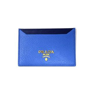 プラダ(PRADA)のプラダ 1MC208 カードケース カーフレザー ブルー/ネイビー(名刺入れ/定期入れ)