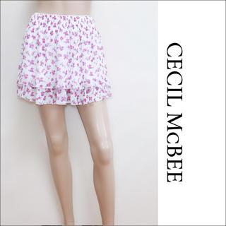 CECIL McBEE - CECIL McBEE シフォン 花柄 スカート♡イング リズリサ GRL