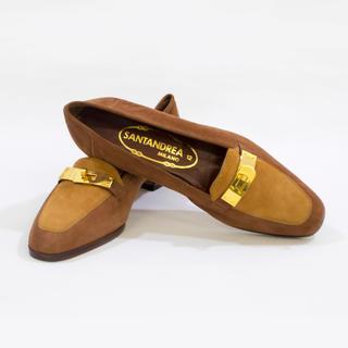 ロンハーマン(Ron Herman)の定価4万!イタリア製の革製ローファー(ローファー/革靴)