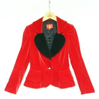 Vivienne Westwood - Vivienne Westwood/ベルベット生地 赤×黒 ラブジャケット