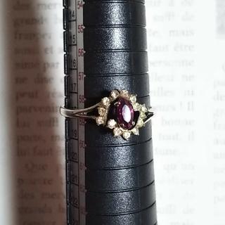 ヴィンテージ 昭和 レトロ デザインリング 指輪 18号(リング(指輪))