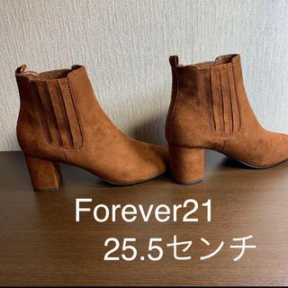 フォーエバートゥエンティーワン(FOREVER 21)のショートブーツ25.5センチ★新品未使用★Forever21(ブーツ)