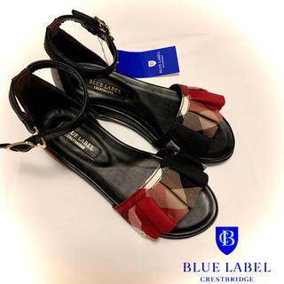 バーバリーブルーレーベル(BURBERRY BLUE LABEL)のBLUE LABEL ブルーレーベル フリルフラットサンダル(サンダル)