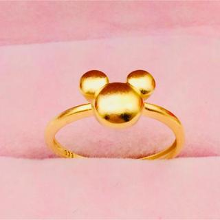 ミッキーちゃんイエローゴールド24金リング🎶💕(リング(指輪))