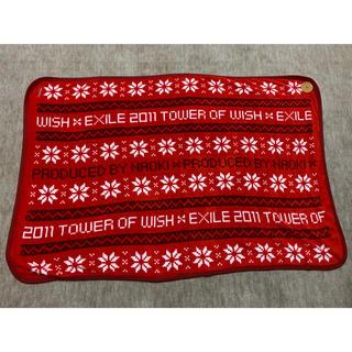 エグザイル トライブ(EXILE TRIBE)のEXILE レア ブランケット TOWER OF WISH 2011 赤(ミュージック)