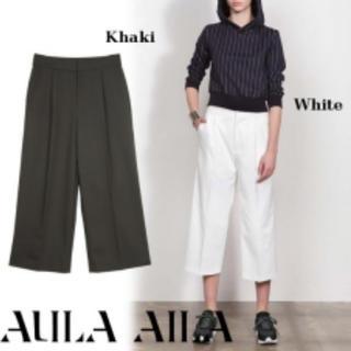 アウラアイラ(AULA AILA)のAULA AILA クロップドタックパンツ(カジュアルパンツ)