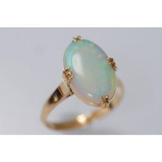 K18 王冠透かし オパール リング 指輪 ヴィンテージジュエリー 昭和レトロ (リング(指輪))