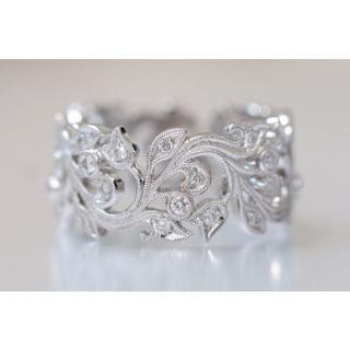 750 カールブラックバーン 0.40ct ダイヤモンド リング 10.5号 (リング(指輪))