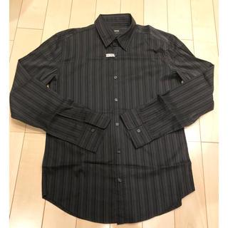 HUGO BOSS - 美品⭐︎ hugo bosp ヒューゴ ボス ストライプシャツ 黒 black