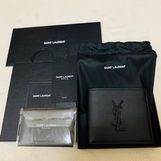 Saint Laurent - SAINT LAURENT サンローラン メタルYSLロゴ グレインレザー 財布