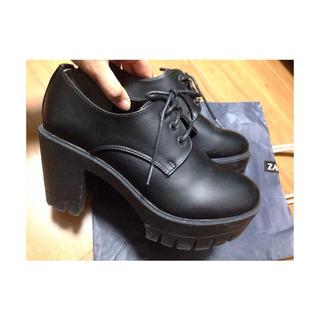 WEGO(ウィゴー)のWEGO * タンクヒールシューズ 黒 レディースの靴/シューズ