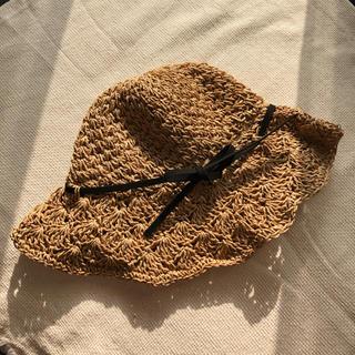 ミラオーウェン(Mila Owen)のストローハット 麦わら帽子(麦わら帽子/ストローハット)