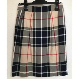 ヨークランド(Yorkland)のYorkland チェックタイトスカート(ひざ丈スカート)